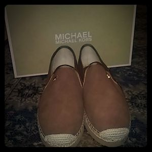 Michael Kors Suede Slide On Shoes